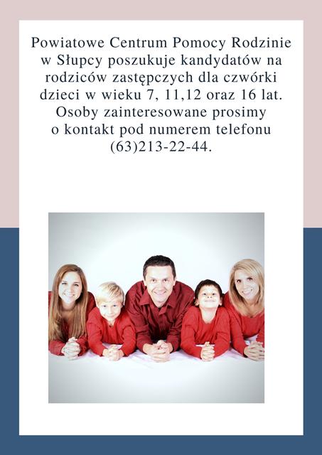 Pilnie poszukujemy Rodziny Zastępczej.