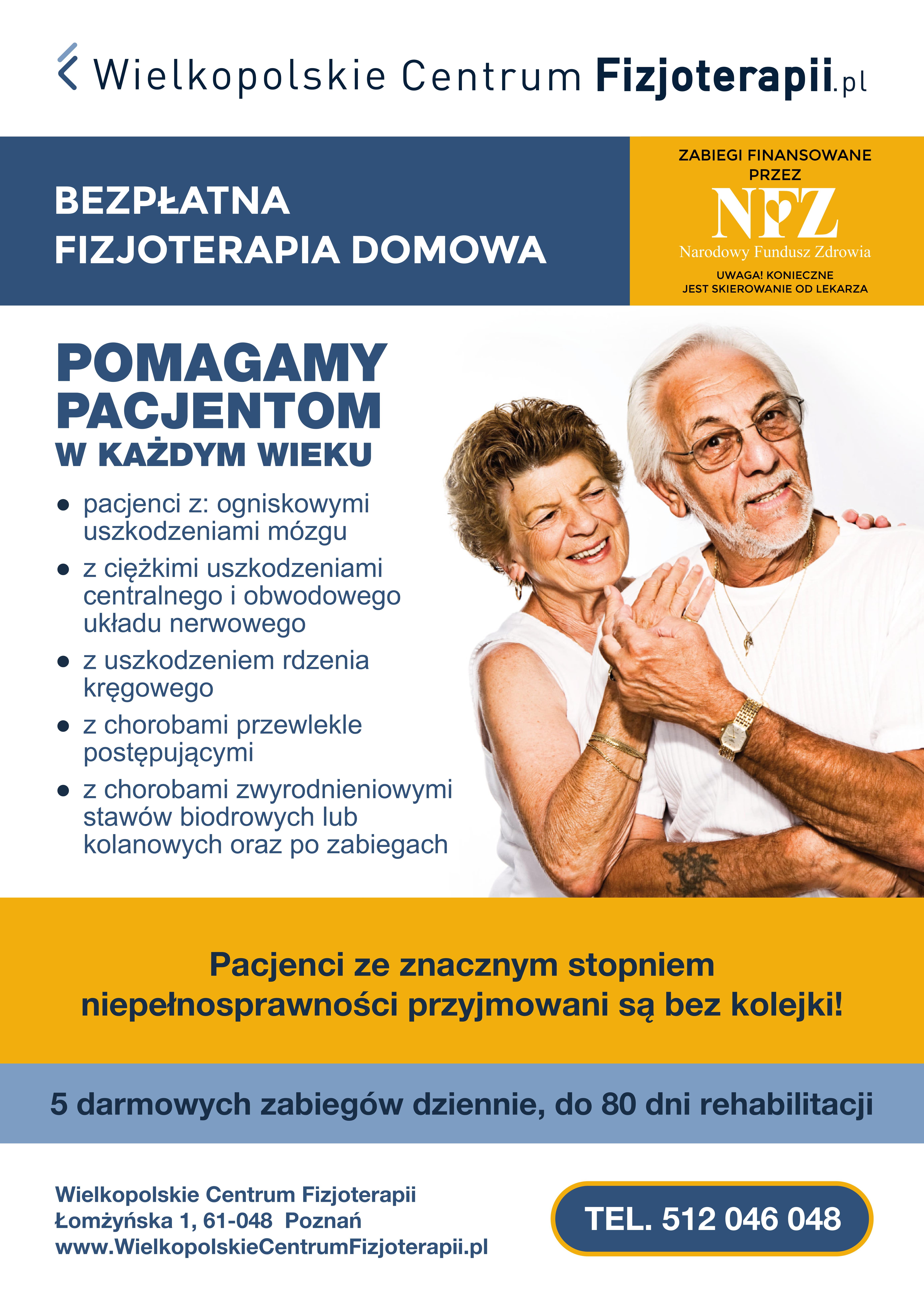 Bezpłatna fizjoterapia domowa i ambulatoryjna